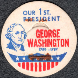 #DC226 - Scarce George Washington Milk Bottle Cap
