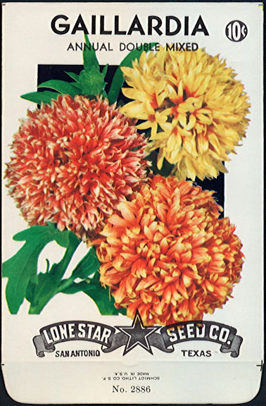 #CE007.1 - Annual Double Mixed Gaillardia Lone Star 10¢ Seed Pack - As Low As 50¢ each
