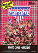 #ZZA187 - American Gladiators 1991 Topps Card Promotional Poster