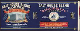 #ZLCA204 - Rare Galt House Sincerity Coffee Can Label