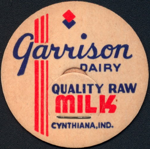 #DC198 - Garrison Dairy Raw Milk Bottle Cap