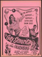 "#CH326-03  - Rare 1945 ""The Gay Senorita"" Poster Broadside"