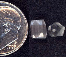 #BEADS0344 - Transparent Beveled Corner Bead with Reflective Internal Lines