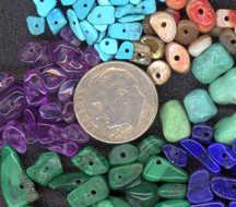 #BEADS0181 - Group of 10 Polished Jade Gemstone Beads