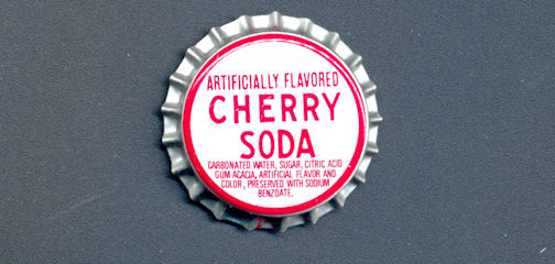 #BC135 - Older Cherry Soda Plastic Lined Soda Cap - As low as 8¢ each