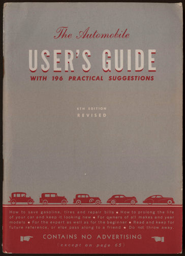 #CA099 - 1946 General Motors User's Guide to The  Automobile
