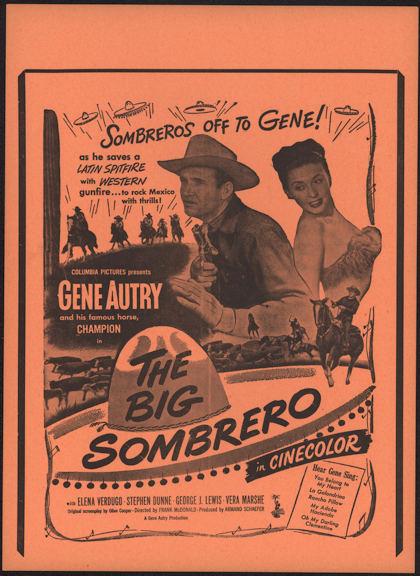 #CH326-20 - Gene Autry The Big Sombrero Poster/Broadside