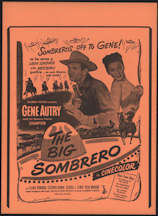 #CH326-20 - Gene Autry The Big Sombrero Poster/Broadside