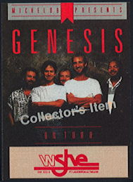 ##MUSICBP0380 - Genesis OTTO Cloth Backstage Collector's Pass from the 1987 Orange Bowl Concert