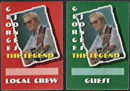 ##MUSICBP0006 - Group of 12 George Jones OTTO Cloth Backstage Passes - Farewell Tour