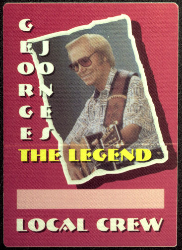 ##MUSICBP0006 - Group of George Jones 12 Backstage Passes - Last Backstage Pass Type Used by George Before His Death