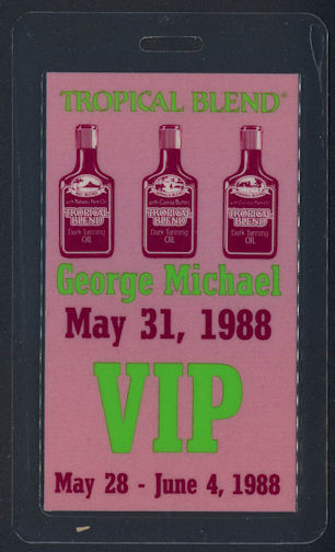 ##MUSICBP0062 - Rare George Michael Laminated OTTO Backstage Pass from the Concert at the Palais Des Sports in Paris