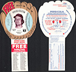 #BA135 - 1977 Pepsi Glove Disc Carton Insert Featuring Hall of Famer George Brett