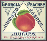 #ZLC245 - Very Old Jordan's Jasper Juicies Georgia Peach Crate Label
