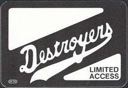 ##MUSICBP0795  - 1986 Destroyers (George Thorogood) Cloth OTTO Backstage Limited Access Pass From the Maverick Tour - Black Version