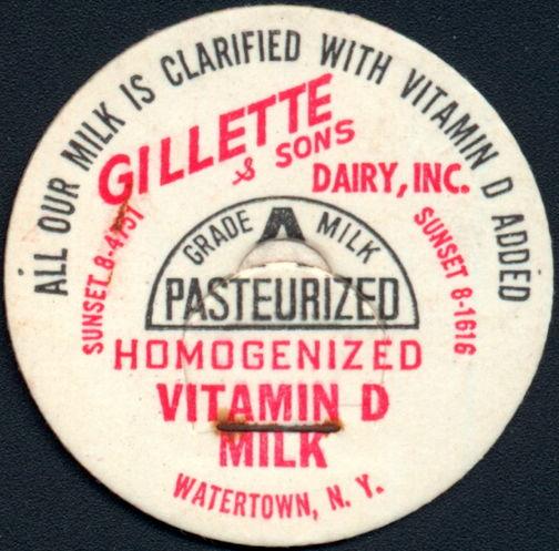 #DC199- Gillette & Sons Dairy Milk Bottle Cap