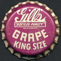 #BC183 - Group of 10 Gill's Grape Soda Caps