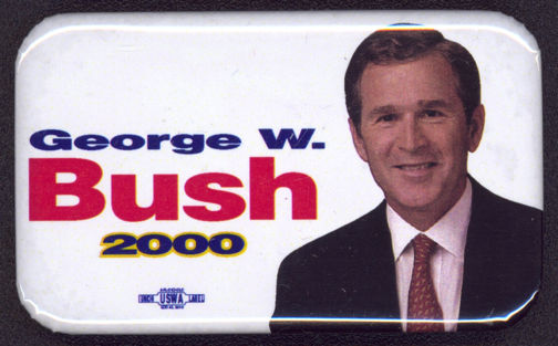 #PL286 - George W. Bush Presidential Election Pinback from the 2000 Election