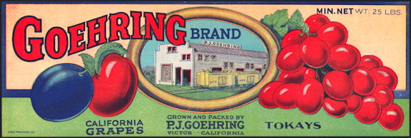 #ZLSG085 - Goehring Grape Crate Label - Oldy