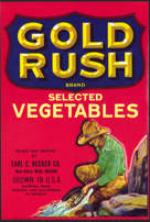 #ZLC266 - Gold Rush Selected Vegetables Label