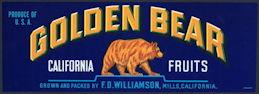 #ZLSG074 - Golden Bear Crate California Fruits Crate Label