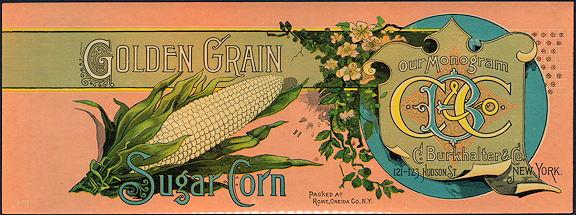 #ZLCA271 - Very Old Golden Grain Sugar Corn Can Label