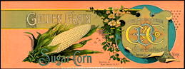 #ZLCA271 - Very Old Golden Grain Sugar Corn Can Label