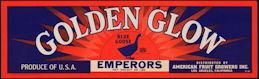 #ZLSG066 - Golden Glow Blue Goose Emporors Grape Crate Label