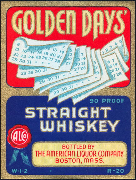 #ZLW067 - Golden Days Whiskey Label