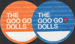"##MUSICBP0619 - 2 Different Colored Goo Goo Dolls OTTO Cloth Backstage Passes from the 2006 ""Let Love In"" Tour"