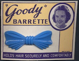 #CS370 - Classic 1950s Goody Barrette on Display Card