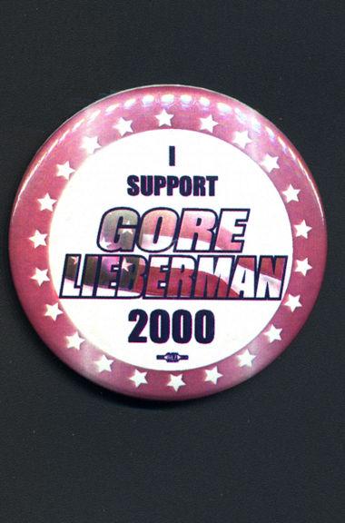 #PL306 - Large I Support Gore Lieberman 2000 Pinback
