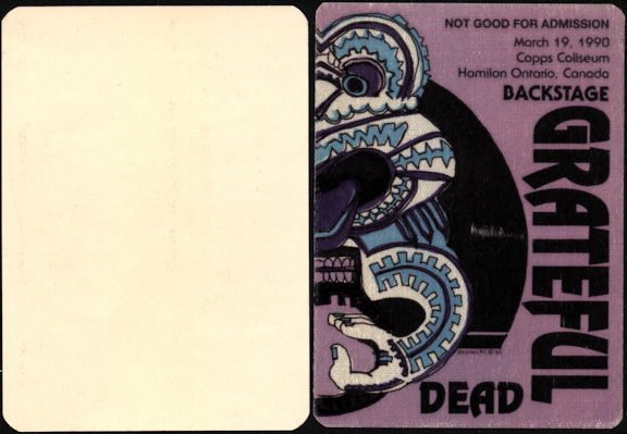 ##MUSICBP0443 - Grateful Dead Cloth OTTO Tiki Puzzle Backstage Pass Made for a Box Set