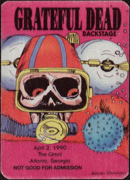 ##MUSICBP0489 - Grateful Dead Cloth OTTO Backstage Pass with Scuba Diver