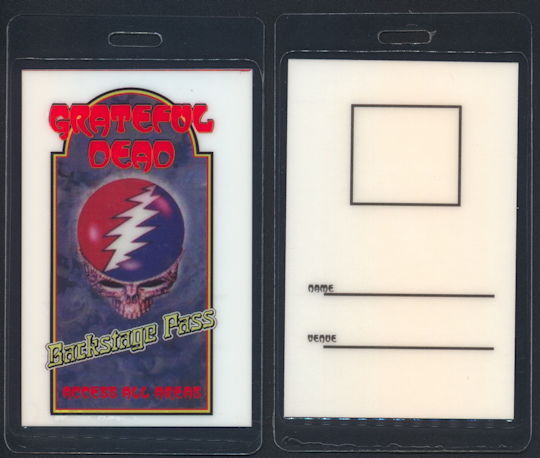 ##MUSICBP0155 - Grateful Dead 1997 Laminated All Access Backstage Pass made for Documentary
