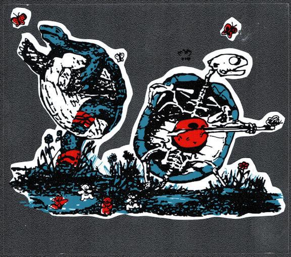 ##MUSICBP2040 - Grateful Dead Car Window Tour Sticker/Decal - Dancing Terrapins (Turtles)