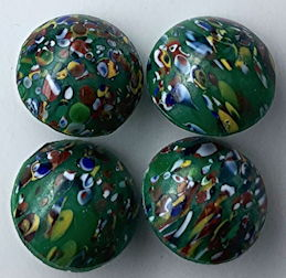 #BEADS0870 - Group of Four 12mm West German Millefiori Glass Cabochons