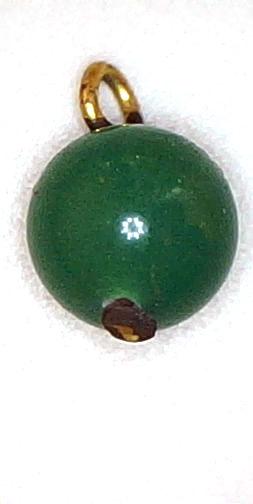 #BEADS0458 - Dark Jade Colored Dangler Beads with Metal Loop - As low as 10¢ each