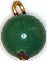 #BEADS0458 - Dark Jade Colored Dangler Beads with Metal Loop - As low as 10¢ each