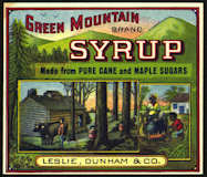 #ZBOT125 - Green Mountain Syrup Label with Mammy - Black Americana - Early Version