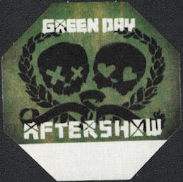 "##MUSICBP0561 - 2009 Green Day OTTO Cloth After Show Backstage Pass from the ""21st Century Breakdown"" Tour - Skulls"