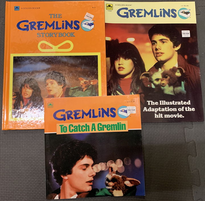 #CH432 - Group of Three Different Gremlins Books