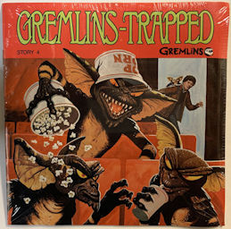 #CH438 - Sealed Gremlins Trapped Book and Phonograph Record