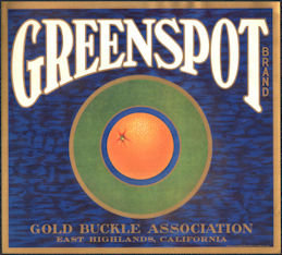 #ZLC481 - Greenspot Orange Crate Label - East Highlands, CA