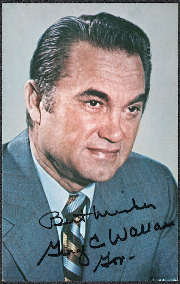 #PL049 - Group of 4 George Wallace Promotion Pictures with Photo Signature