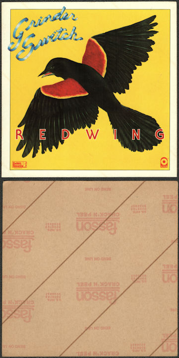##MUSICBG0143 - Large Promotional Grinder Switch Sticker for their 1977 Red Wing Album