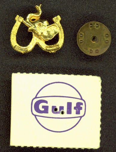#PL273 - 1968 Gulf Oil Giveaway Republican Elephant Pin on Card
