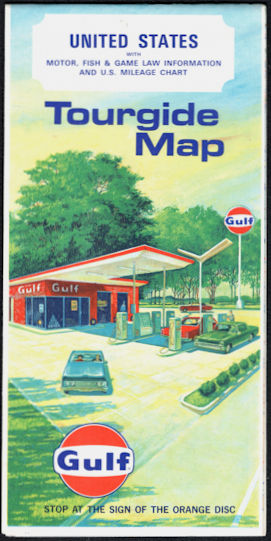 #CA140 - Gulf United States Tourguide Map with Motor, Fish, and Game Law Information