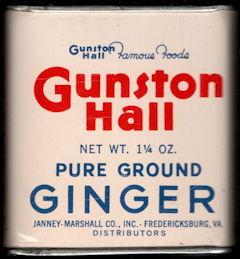 #CS417 - Full Gunston Hall Pure Ground Ginger Spice Tin