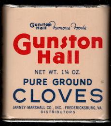 #CS416 - Group of 2 Full Gunston Hall Pure Ground Cloves Spice Tins